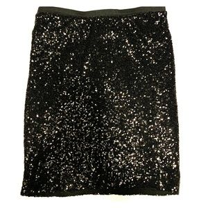 Black sequined skirt The Limited